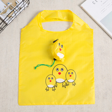 цены yellow chicken Cute Animal Shape Folding Shopping Bag Eco Friendly Ladies Gift Foldable Reusable Tote Bag Portable Travel bag