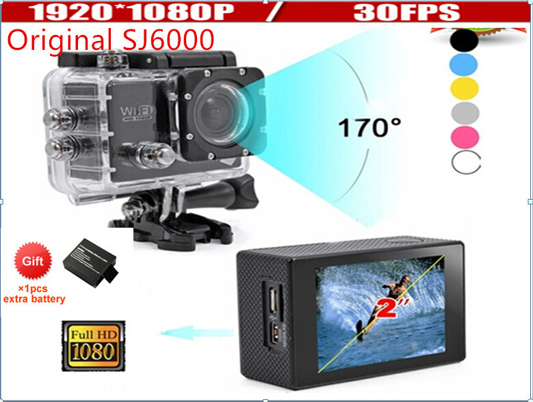 "New Version Wifi Action Camera Full HD digital camera 1080P 30FPS 2.0""LCD Diving 30M Waterproof sj5000 sj4000 sport DV"