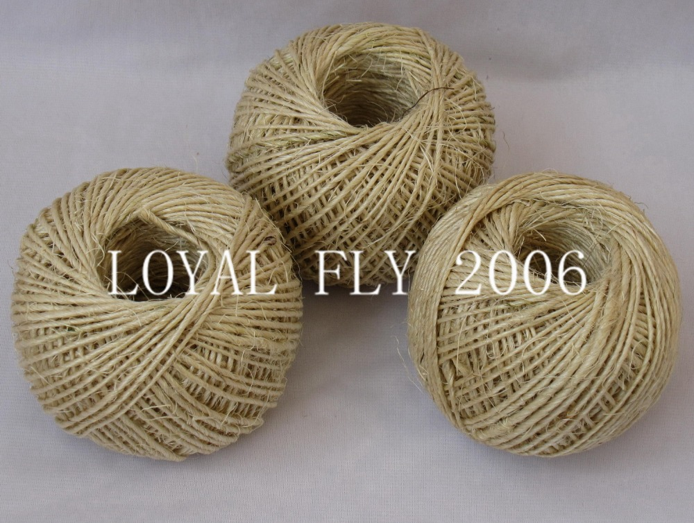 10 pcs/lot (total 800m) sisal twine(1.5mm) 1ply twisted 80m/ball,sisal rope, sisal string/cords used for all decro