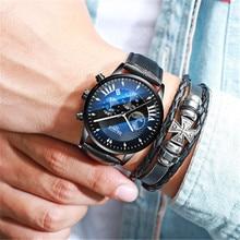 2018 NEW HAIQIN Luxury Brand Mens Watches Cadise Pilot Military Sport Watch Men Quartz Wristwatch Waterproof Relojes Hombre+Box