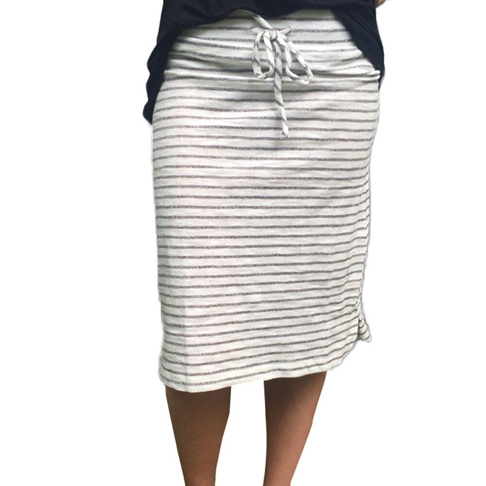 Sleeper #401 2019 NEW FASHION Women Sexy Stripe Skirt Summer Elastic Short Skirt For Girls Daily Casual Wummer Hot Free Shipping