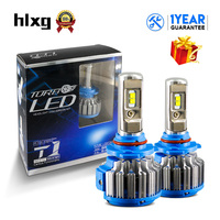 HLXG T1 Upgrade Car Turbo LED 9006 HB4 Headlight Kits 70W 7000LM Set 12V Error Free