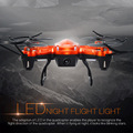 4 Canales 6-Axis 2.0MP Cámara LLEVÓ la Luz de 5.8G FPV En Tiempo Real de Transmisión de 2.4 GHz RC Gyro Drone Quadcopter Del Helicóptero juguete