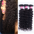 Ms Cat Hair Brazilian Deep Wave 3pcs 7a Brazilian Deep Curly Virgin Hair Bundles Deals #1B Brazillian Hair Human Hair Extensions