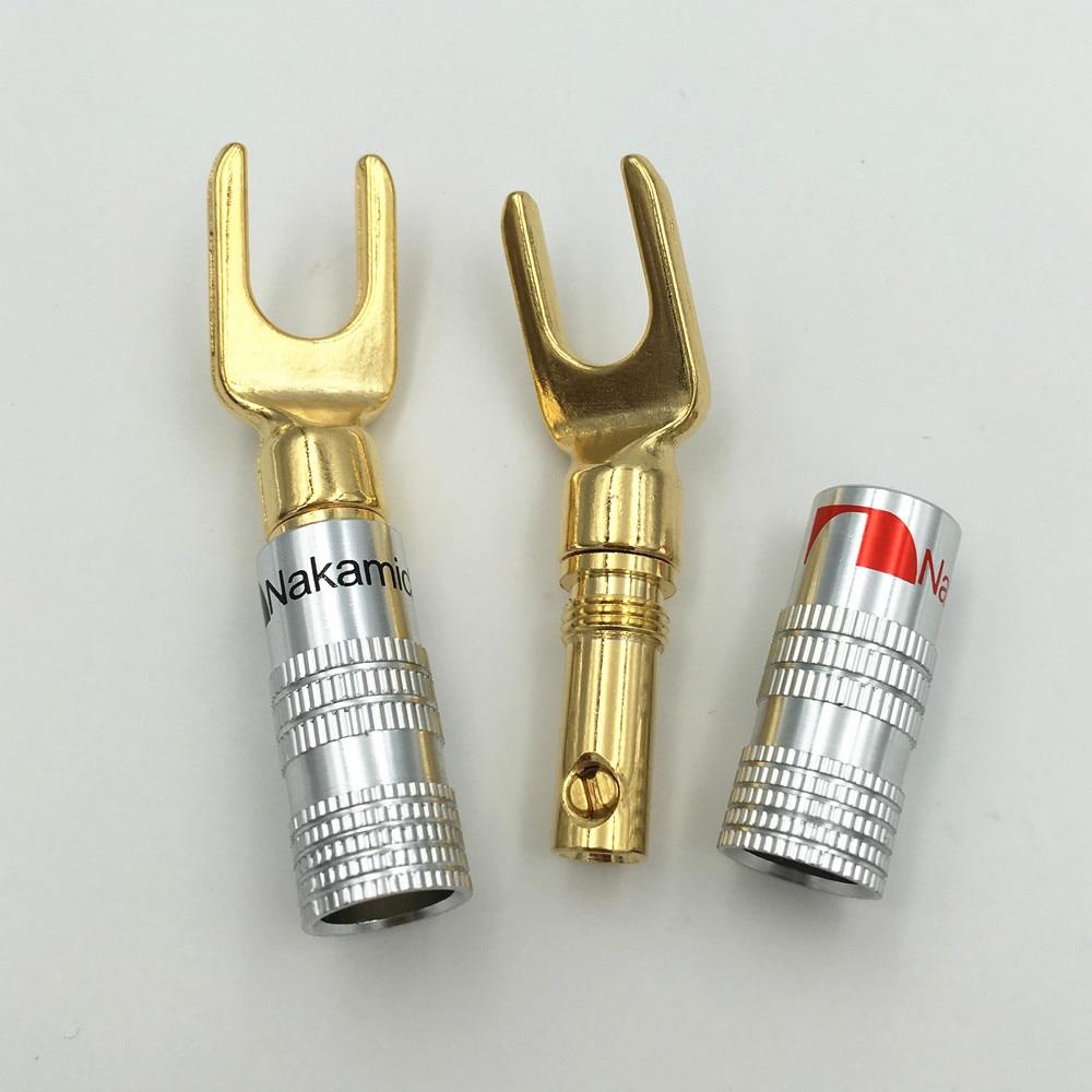 Type De Haut Parleur €10.35 24% de réduction 10pcs haute pièces nakamichi y/u type laiton haut  parleur bouchons audio vis fourche connecteur connector solar connector
