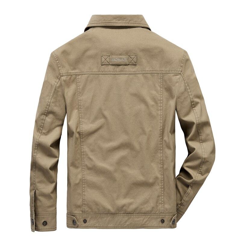 Куртка мужская модная джинсовая куртка тонкая секция плюс размер однобортная мужская верхняя одежда повседневная с отложным воротником му... - 4