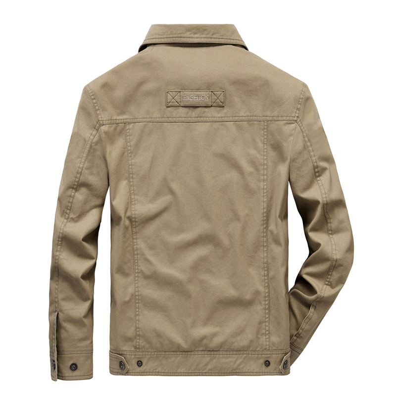 Jas Mannen Mode Denim Jasje Dunne gedeelte Plus Size Enkele Breasted Man Bovenkleding Casual Turn Down Kraag Mannelijke Jackers - 4