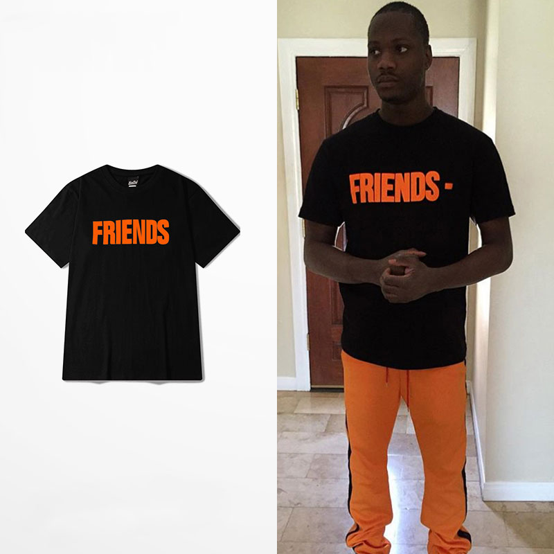 5a01d8d4 Vlone For Know Wave Friends T Shirts V Print ASAP Rocky Off White 13 Virgil  Abloh Hip Hop Kanye West Yeezy T-Shirt