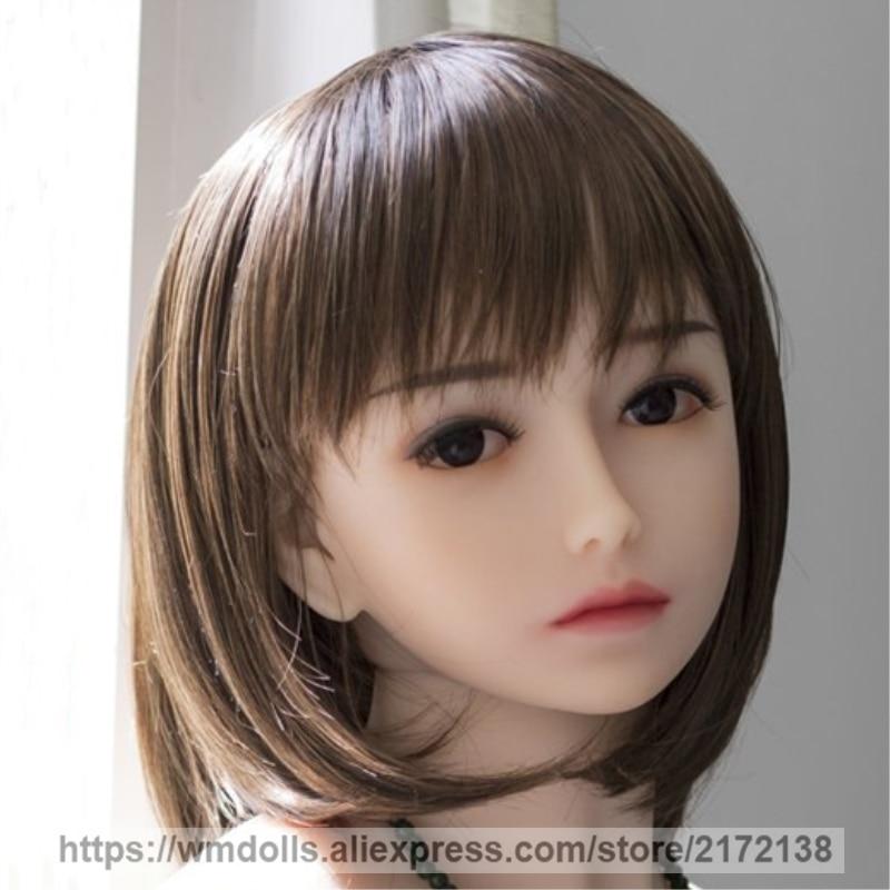WMDOLL Réel TPE tête de poupée de sexe, Poupées de Sexe Oral Tête, Silicone Poupée de Sexe réaliste Robot amour poupées