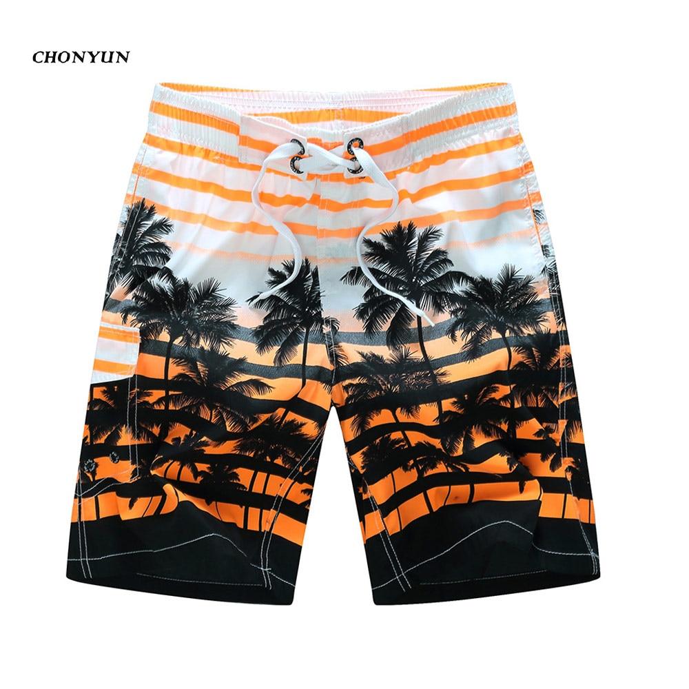 New Summer Men's Board Shorts Surf Shorts Bermuda Male Swimwear Running Shorts Quick Dry Beach Wear Bathing Suit Plus Size 6XL