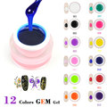 #40267 CANNI factory supply 12 color 8ml nail art hot sale 3d gemstone jelly uv gel,diamond glass uv gel