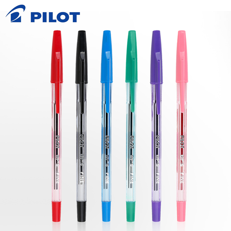PILOT Japan Baile Ballpoint Pen Student Office BP-S Color Oil Pen 0.7mm Classic Transparent Rod 6 Colors Optional
