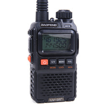 Baofeng UV-3R Plus Interphone Two Way Radio Portable Mini Walkie Talkie For Mobile Radio Dual Band VHF UHF Radio Marine