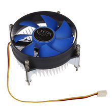 AABB-XYCP Cooler Processor CPU Wastafel Panas untuk 65W Intel Soket LGA 1155/1156 Core I3/I5/I7 Biru(China)