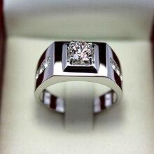 Кольцо из стерлингового серебра 925 пробы, мужское властное кольцо, стразы, мужское кольцо