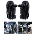 New Painted Black Lower Vented Leg Fairing Glove Box For Harley Road King Tour Electra Glide