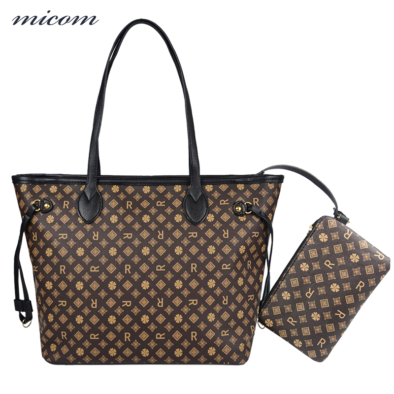 MiCOM Women Handbag and Purse Set Top-Handle Bags Female Shoulder Bags High Quality PU Leather Bags Louis Printed Composite Bag jooz brand luxury belts solid pu leather women handbag 3 pcs composite bags set female shoulder crossbody bag lady purse clutch