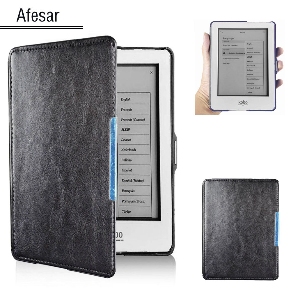 Glo flip folio Ultra slim book cover case for Kobo Glo 6 eReader ebook N613 smart case with auto sleep awake cover + stylus penGlo flip folio Ultra slim book cover case for Kobo Glo 6 eReader ebook N613 smart case with auto sleep awake cover + stylus pen