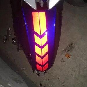 Image 3 - SLIVERYSEA 34x5.5 سنتيمتر سيارة دراجة نارية درابزين JDM ملصقا عاكسة الملصقة pinبها بنفسك مقلمة ملصقات السيارات لياماها هوندا