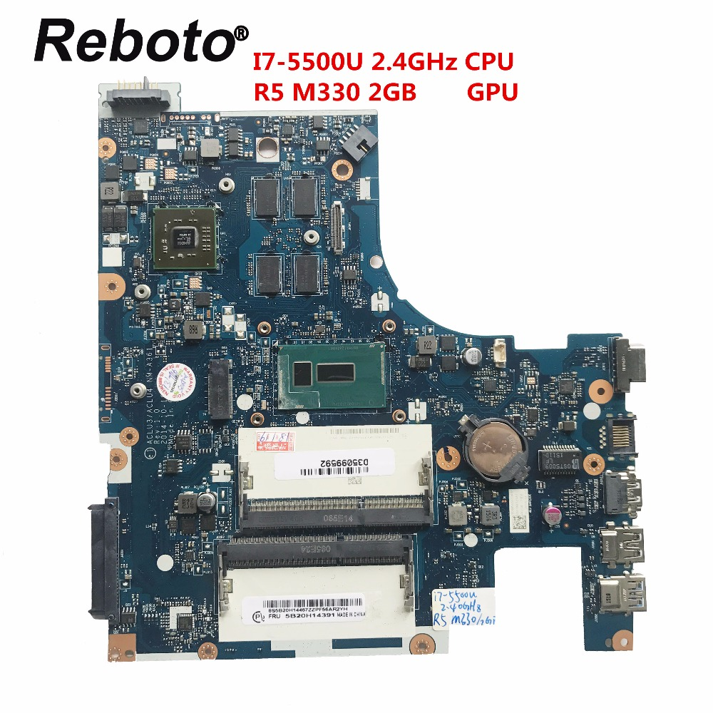 Reboto For Lenovo G50 80 Laptop Motherboard With I7 5500U 2 4GHz CPU R5 M330 2GB
