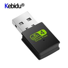 Kebidu 2 4G 300Mbps Wireless Network Card Wifi Antenna USB Network Card For Windows XP Vista Linnux Win 7 8 Win 10 Free Driver cheap External ETHERNET Desktop 802 11a g As shown WD-3505C For Windows XP Vista Linnux Win7 Win 8 Win8 1 Win10 USB Ethernet Adapter