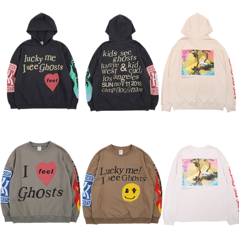 Kanye West KIDS SEE GHOSTS Hoodie Men Pullover 2019 New arrived Fashion Best Quality Sweatshirts Hip Hip Hoodies