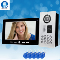 10 TFT Color Video Intercom System ONE to ONE Monitor Kit IR Camera Video Doorbell with RFID 5 Keyfobs Waterproof V101FZSK11