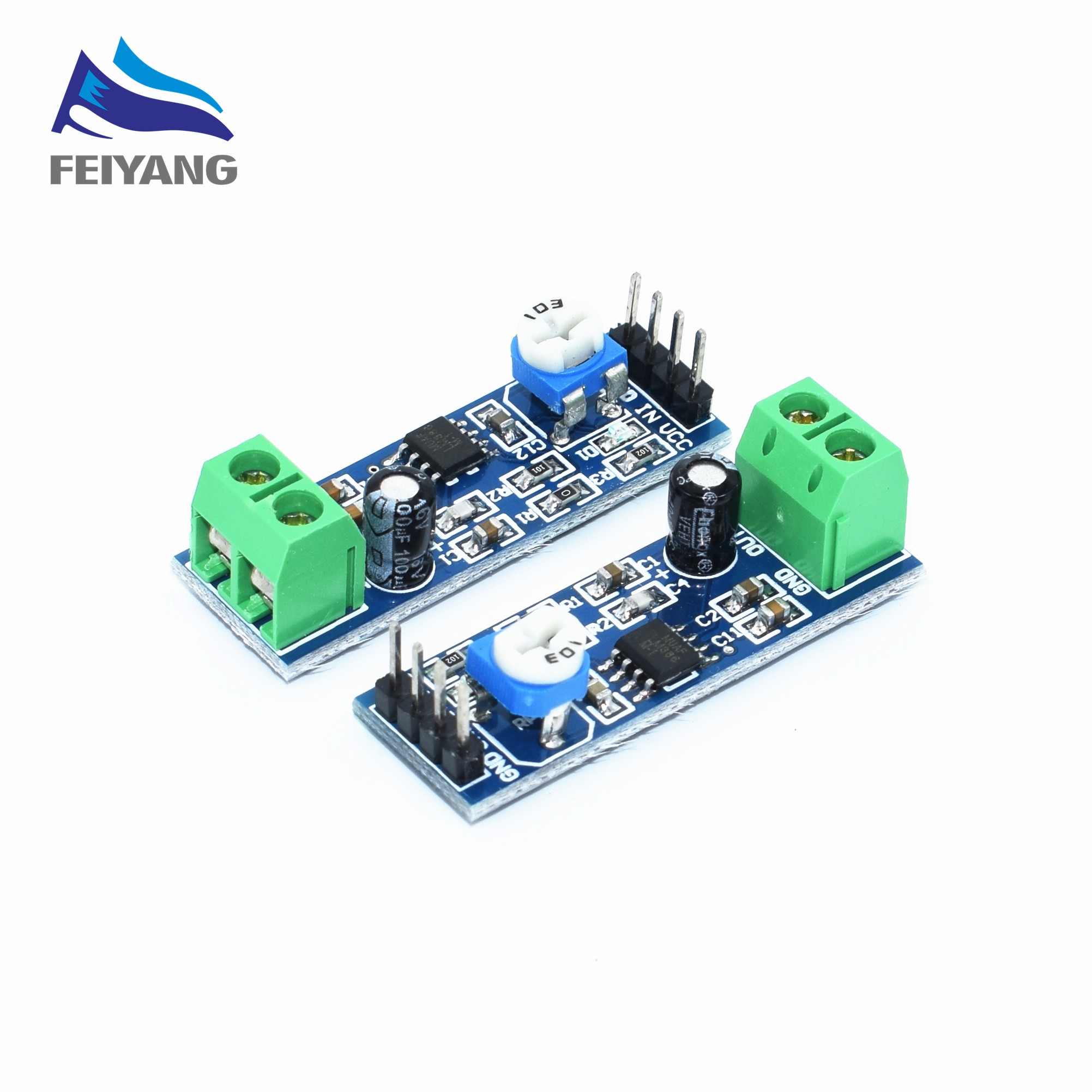 1pcs Lm386 200 Times Gain Audio Amplifier Module 5v 12v Input 10k Schematic Using Laser Diode And Low Voltage Samiore Robot Resistance