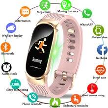 BANGWEI умные часы цветной экран водостойкий женский умный Браслет пульсометр Smartwatch relogio inteligente для Android IOS
