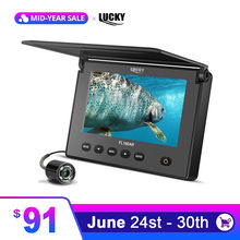 "Russian menu!LUCKY underwater Fish Finder fishing camera Ice Fishing Camera 4.3"" LCD Monitor sport video camera underwater(China)"