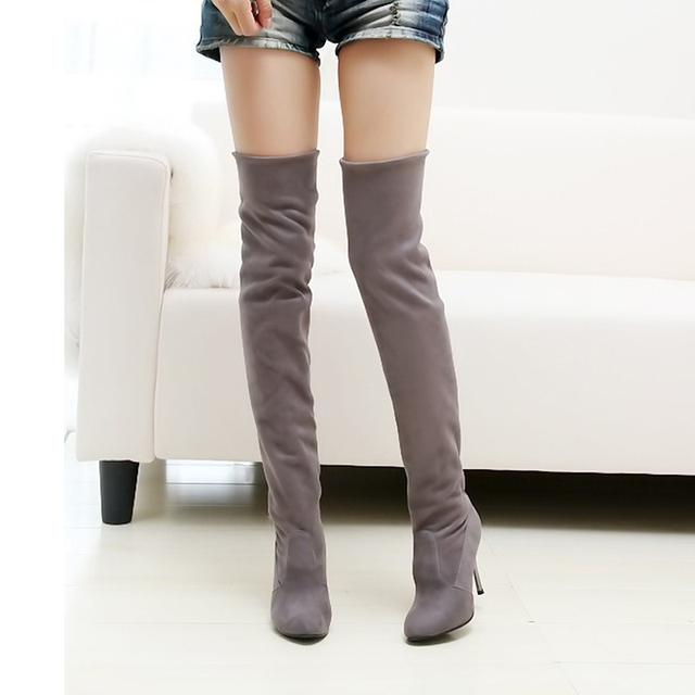 Stovepipe Over The Knee Boots