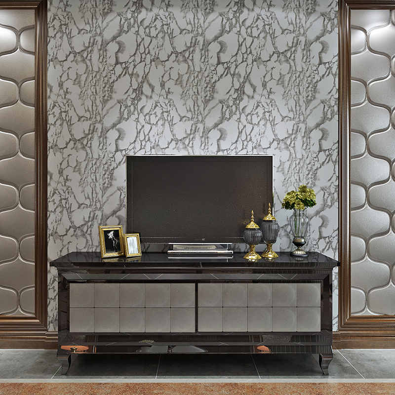 Self adhesive marble wallpaper for bedroom walls kitchen for Vinyl wallpaper backsplash