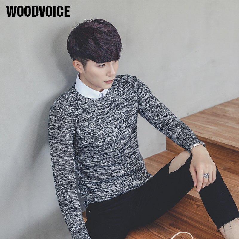 Woodvoice 2017 Brand Clothing Sweater Men Fashion 100% Cotton Pullovers Round Neck Males Long Sleeve Pullover S-3XL High Quality