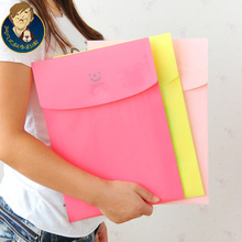 free shipping stationery box cute a4 transparent file folder bag paper bags supplies File Folder