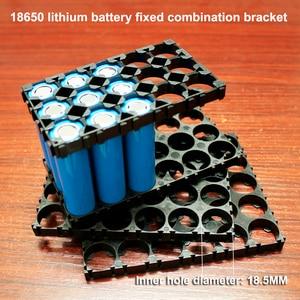 Image 2 - 10 шт./лот 18350 18500 18650 Монтажный кронштейн для сборки литиевой батареи ABS огнестойкий комбинированный кронштейн с пластиковой пряжкой