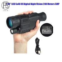 5X40 Digital Night Vision Monocular Night Vision Hunting Scope Night Vision Optics Hunter Scope Free Ship