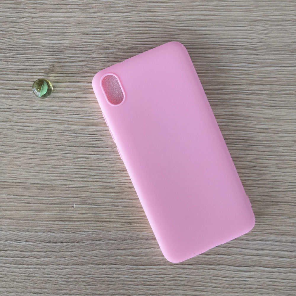 Candy color Case For Xiaomi Redmi 7A Matte Cover Redmi 7 A Silicone TPU Soft Back Cover Xiaomi Redmi 7A Case 5.45″