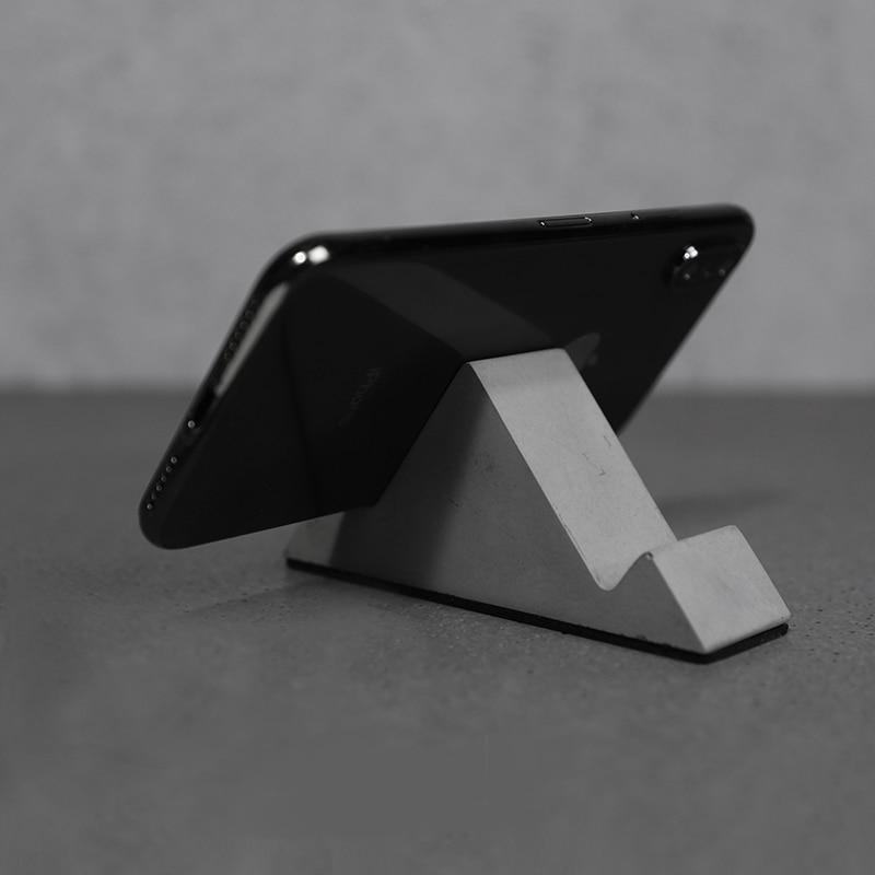 Suporte do telefone Móvel do molde recipiente de Molde de concreto Simples e criativo projeto de molde de silicone para o telefone móvel de montagem