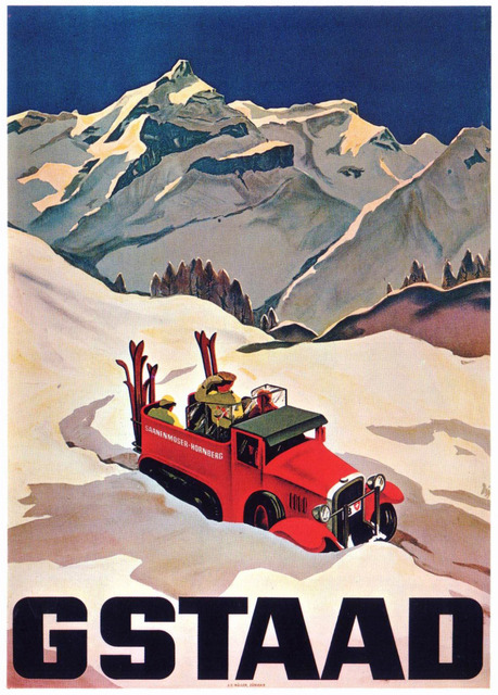 Ski in Switzerland Gastaad Classic Vintage Retro Kraft Decorative Poster Maps Travel Posters Wall Sticker Decor Gift