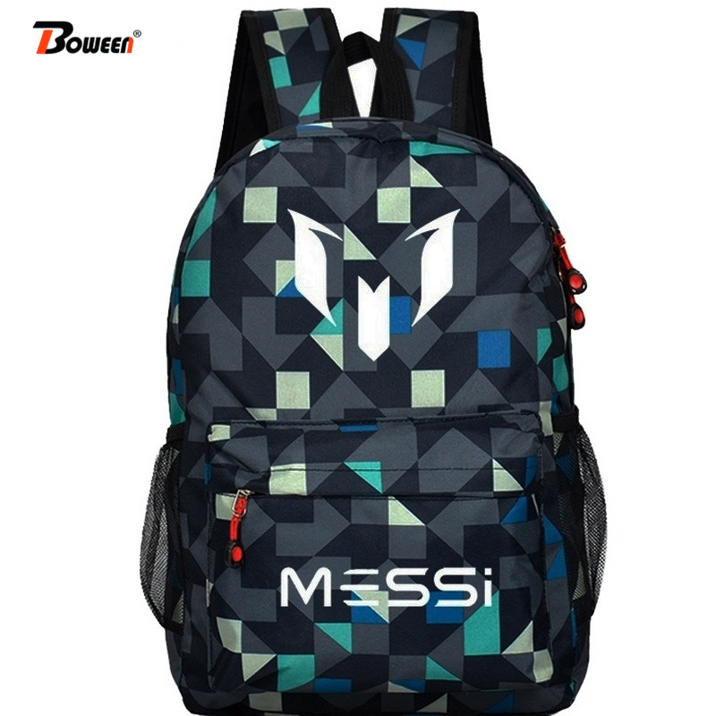 Cool Messi School Bags For Teenagers Boys Backpack Men Ronaldo Fashion Bookbags For Children Schoolbags Teen 2019