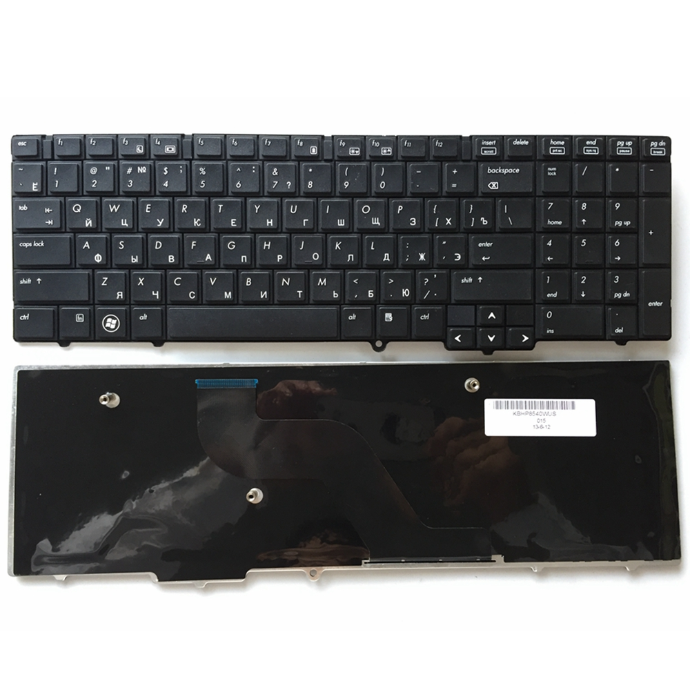 RU Black New Russian Laptop <font><b>Keyboard</b></font> FOR <font><b>HP</b></font> EliteBook 8540 <font><b>8540P</b></font> 8540W Without pointing sticks image