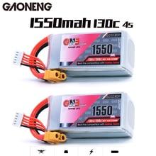 بطارية ليبو Gaoneng GNB 1550MAH 14.8V 130C/260C 4s قابلة لإعادة الشحن XT60 وصلة قابس لموديلات RC إطار متعدد المراكز Accs