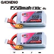 Gaoneng batería recargable para multicóptero, GNB, 1550MAH, 14,8 V, 130C/260C, 4S, XT60, Conector de clavija para modelos RC