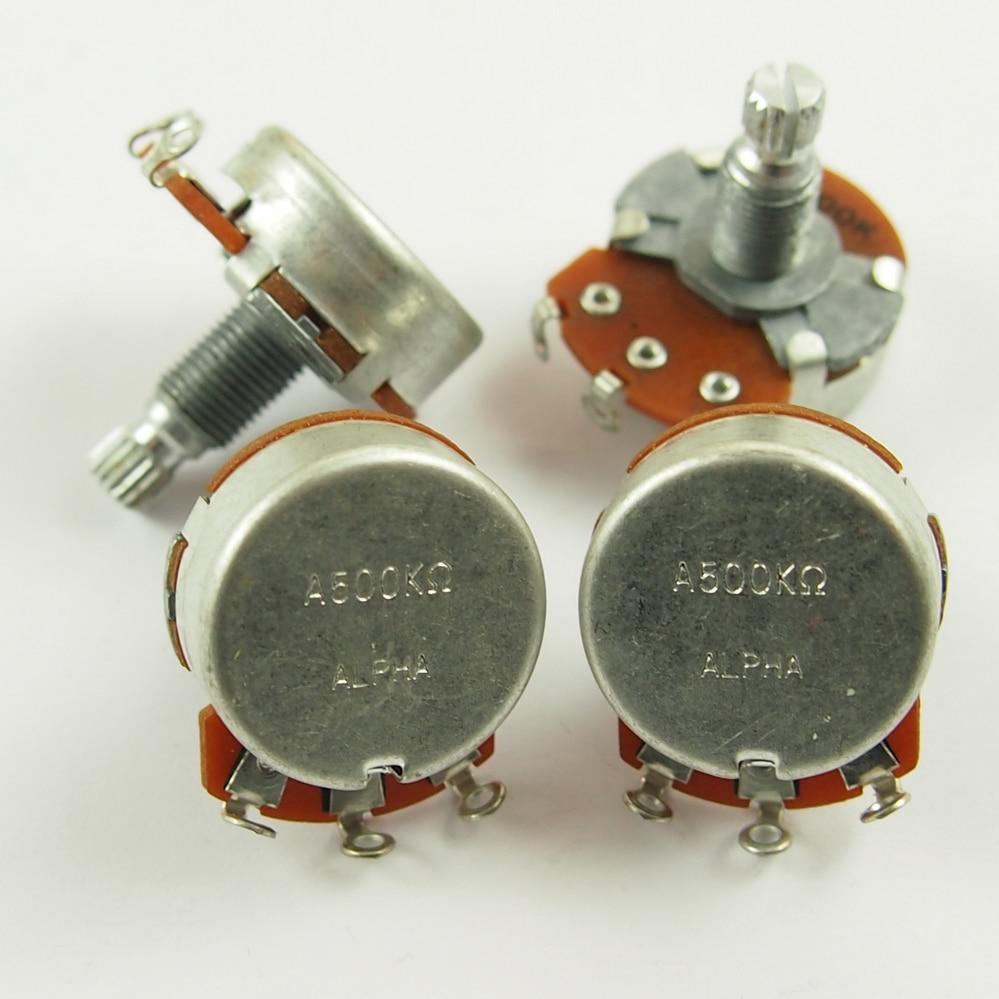 1 ชิ้นอัลฟา A500K B500K บิ๊กมิเตอร์สำหรับกีตาร์ไฟฟ้าเบสการควบคุมระดับเสียงโทนควบคุม 500 พันหม้อ