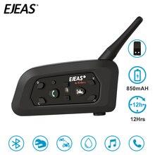 EJEAS V6 Pro 860 mAh Interfono Bluetooth del Casco Del Motociclo Auricolare 6 Rider Comunicador Controllo del Rumore Resistente All'acqua 1200 M