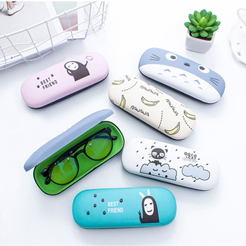 Mimiyou Top-grade Cartoon PU Spectacle Cases for Eyeglasses Fashion Portable Rectangle Sunglasses Box Bag Eyewear Protector