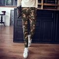New 2016 military style fashion camouflage casual pants men plus velvet sports slim fit cargo pants pantalon homme 3-colors/XXK4