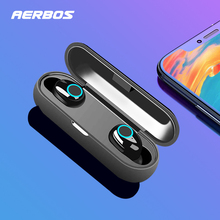 AERBOS Sport Wireless Bluetooth Headphones Earphone handsfree in ear Stereo Headset with mic Mini earbuds for All Mobile Phone hot sale stereo bass earphone in ear headphones handsfree headset 3 5mm earbuds with mic for all mobile phone mp3 player