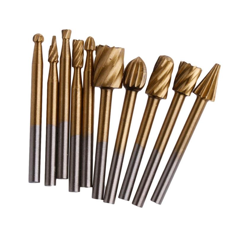 10 Stücke Gravur Cutter Holz Werkzeugschleifen Elektrische Dreh Datei Head-w10 Mit Einem LangjäHrigen Ruf Handwerkzeuge