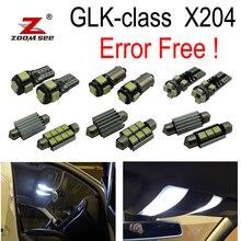 17 шт. ошибок светодиодные лампы для чтения подкладке плафон комплект для Mercedes Benz GLK Class X204 GLK300 GLK280 GLK250 GLK350 (09-15)
